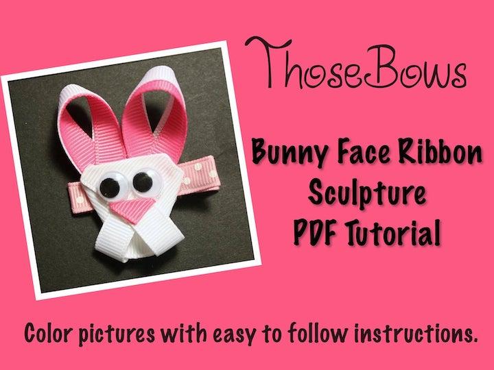 Bunny Face Ribbon Sculpture