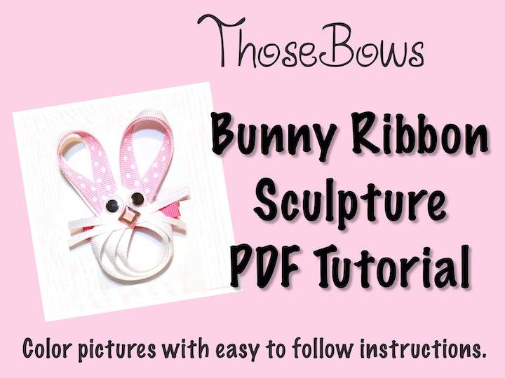 Big Bunny Face Ribbon Sculpture