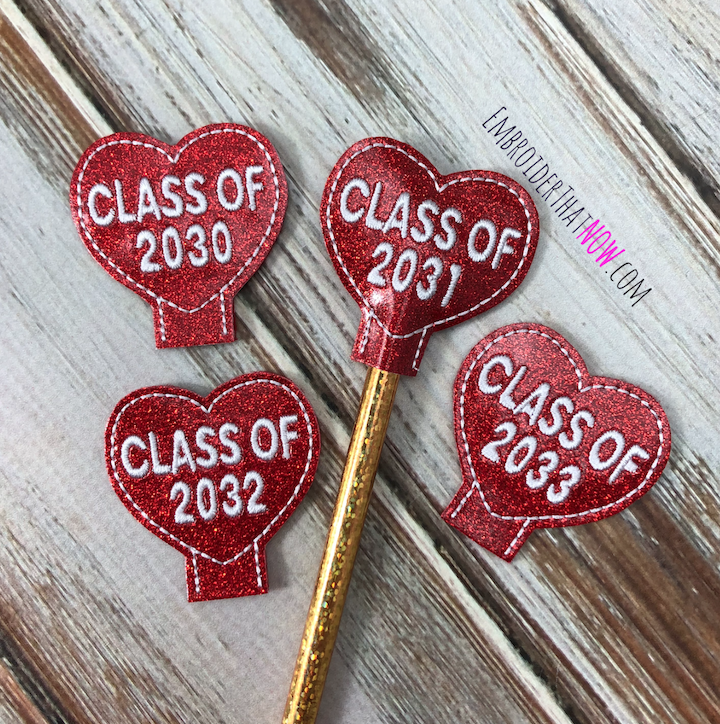 Class Valentine Pencil Topper