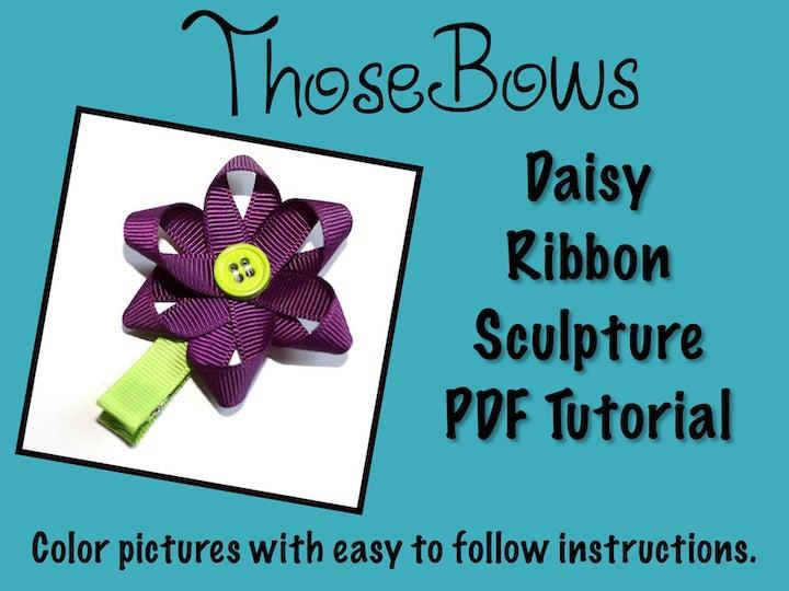 Daisy Ribbon Sculpture