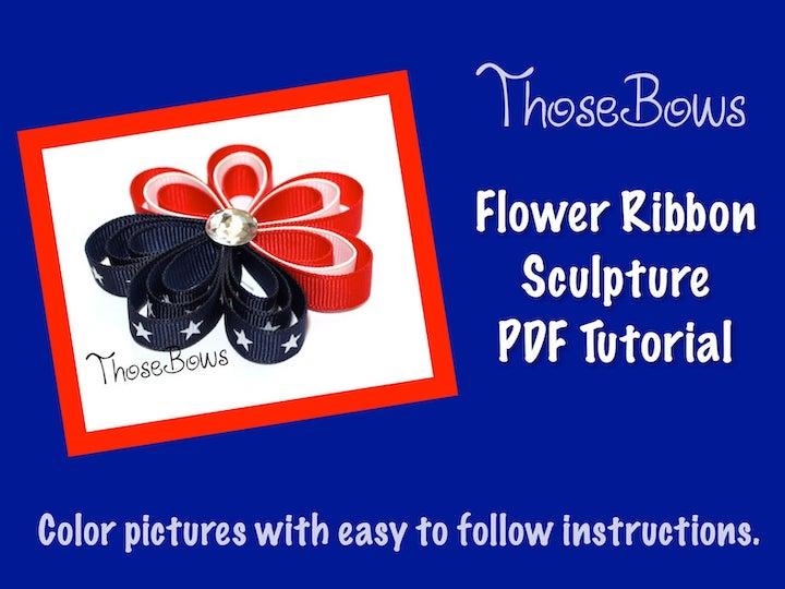 Flower Ribbon Sculpture