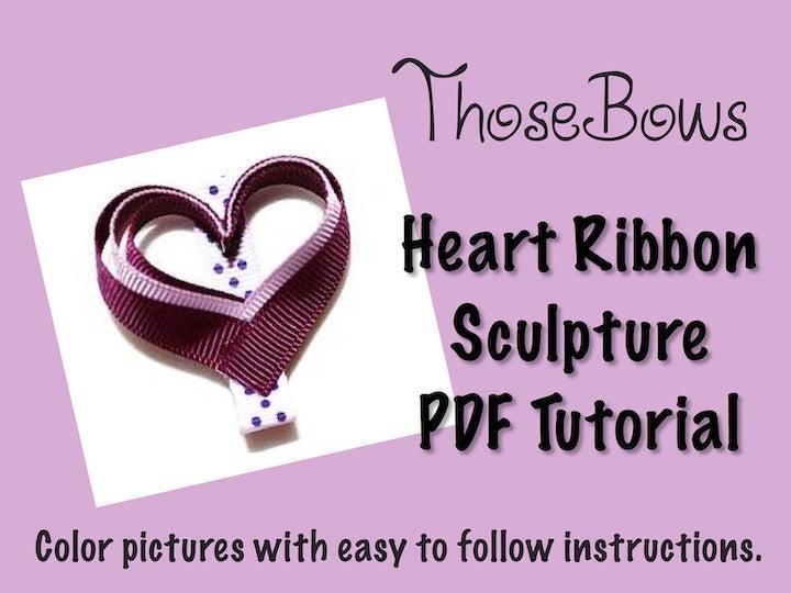 Heart Ribbon Sculpture
