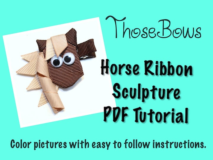 Horse Ribbon Sculpture