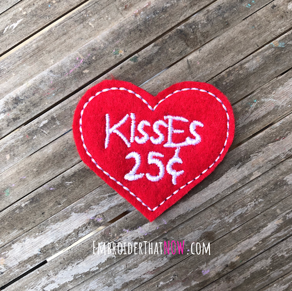 Heart Kisses 25 cents