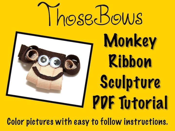 Monkey Ribbon Sculpture
