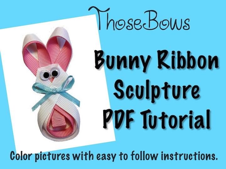 Bunny Ribbon Sculpture