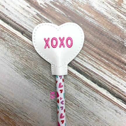 XOXO Pencil Topper