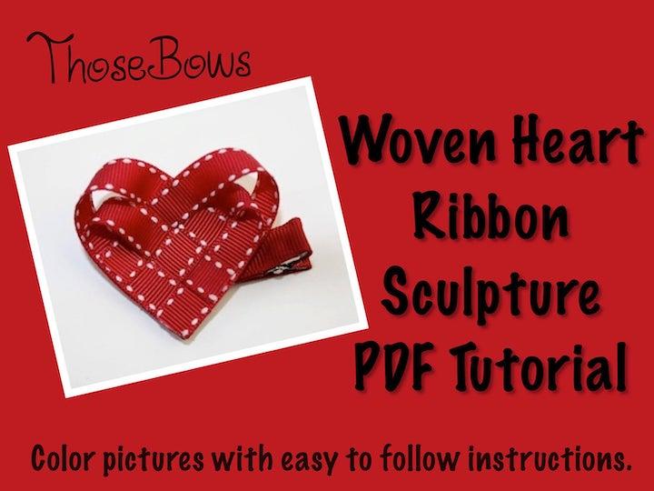 Woven Heart Ribbon Sculpture